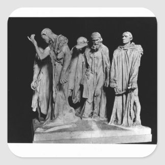 The Burghers of Calais, 1889 Square Sticker