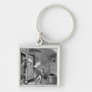 The Burglary from The Adventures of Oliver Keychain