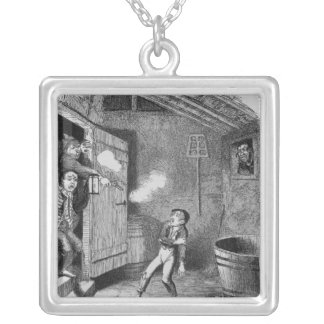 The Burglary from The Adventures of Oliver Silver Plated Necklace