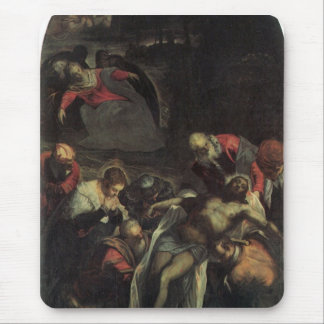 The burial by Tintoretto Mousepads