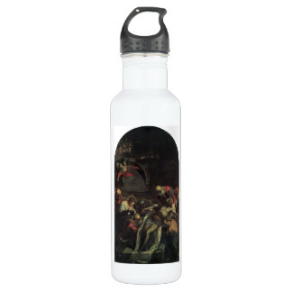 The burial by Tintoretto Stainless Steel Water Bottle