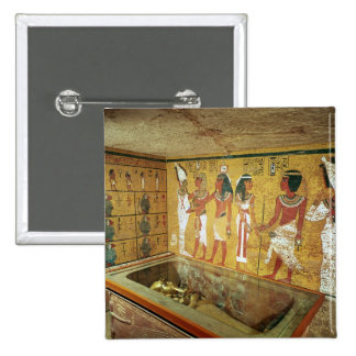 The burial chamber in the Tomb of Tutankhamun Button