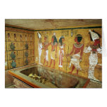 The burial chamber in the Tomb of Tutankhamun Cards