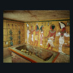 """The burial chamber in the Tomb of Tutankhamun Poster<br><div class=""""desc"""">Egyptian 18th Dynasty&#39;s The burial chamber in the Tomb of Tutankhamun,  New Kingdom located at the Valley of the Kings,  Thebes,  Egypt. The The burial chamber in the Tomb of Tutankhamun,  New Kingdom was created around the 14th century.</div>"""