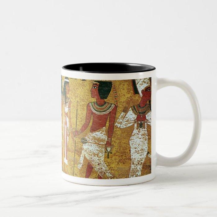 The burial chamber in the Tomb of Tutankhamun Two-Tone Coffee Mug