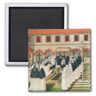 The Burial of a Nun, from 'l'Abbaye de Refrigerator Magnet