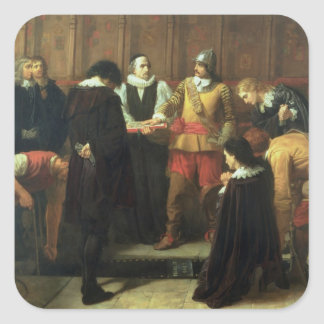 The Burial of Charles I 1600-49 at St George s Square Sticker