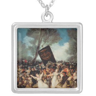 The Burial of the Sardine  c.1812-19 Silver Plated Necklace