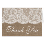 The Burlap & Lace Wedding Collection Stationery Note Card