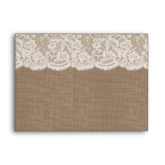 The Burlap & Lace Wedding Collection Envelopes