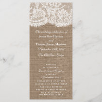 The Burlap & Lace Wedding Collection Programs