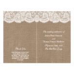 """The Burlap & Lace Wedding Collection Programs 8.5"""" X 11"""" Flyer"""