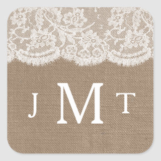 The Burlap & Lace Wedding Collection Seals
