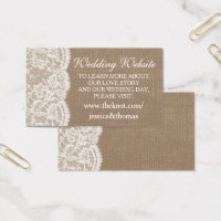The Burlap & Lace Wedding Collection Website Cards