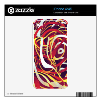 The Burning Flow Decals For iPhone 4