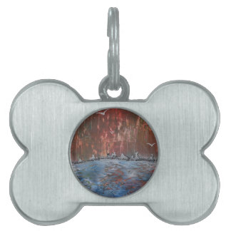 The Burning Forest in winter Pet ID Tag