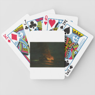 The burning of a Turkish frigate by Konstantinos Bicycle Playing Cards