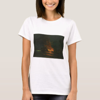 The burning of a Turkish frigate by Konstantinos T-Shirt