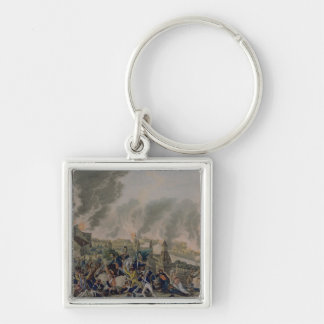 The Burning of Moscow, 15th September 1812, 1813 Silver-Colored Square Keychain