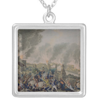 The Burning of Moscow, 15th September 1812, 1813 Silver Plated Necklace
