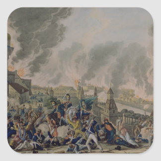 The Burning of Moscow, 15th September 1812, 1813 Square Sticker