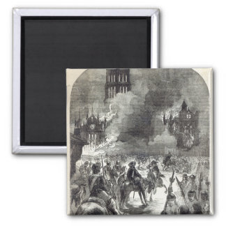 The burning of Old St. Paul's, 1666 Magnet