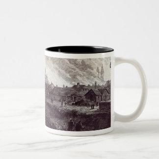 The burning of Stry, near Lemberg Two-Tone Coffee Mug