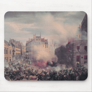 The Burning of the Chateau d'Eau Mousepads