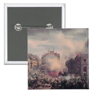 The Burning of the Chateau d'Eau Pinback Button