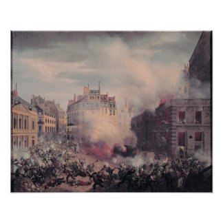 The Burning of the Chateau d'Eau Poster