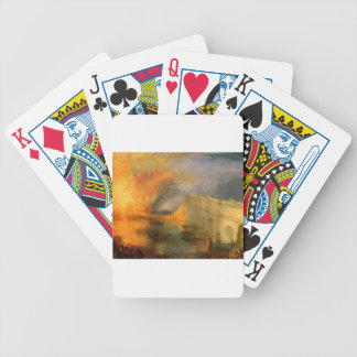 The Burning of the Houses of Parliament by William Bicycle Playing Cards