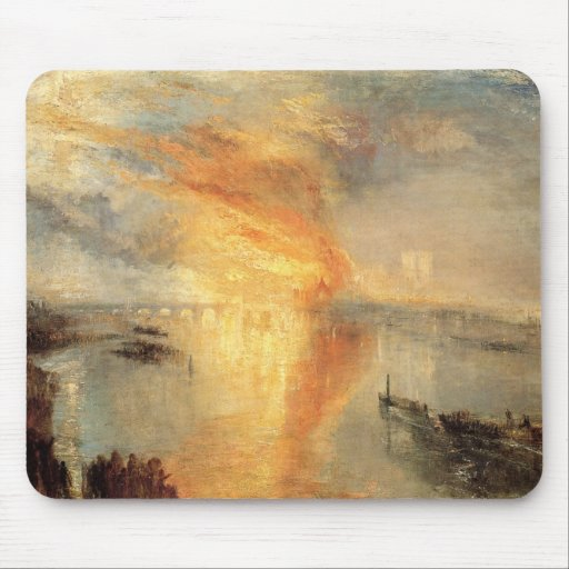 The Burning Of The Houses Of Parliament Mousepad