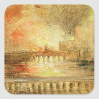 The Burning of the Houses of Parliament, previousl Square Sticker