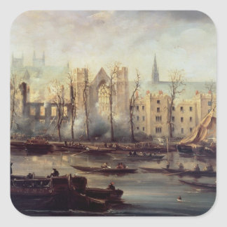 The Burning of the Houses of Parliament Square Sticker