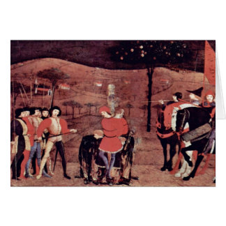 The Burning Of The Jewish Merchant And His Family Greeting Card