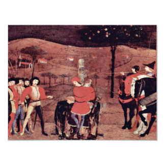 The Burning Of The Jewish Merchant And His Family 4.25x5.5 Paper Invitation Card