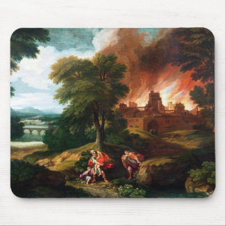 The Burning of Troy Mouse Pad