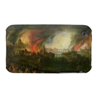 The Burning of Troy (oil on copper) iPhone 3 Cases