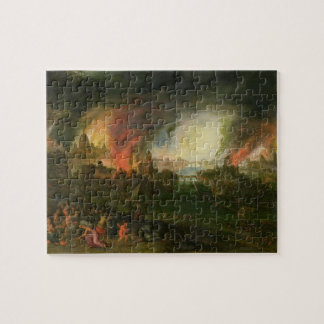 The Burning of Troy (oil on copper) Jigsaw Puzzle