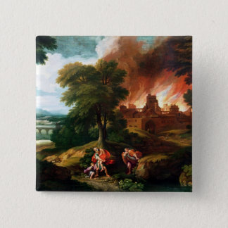 The Burning of Troy Pinback Button