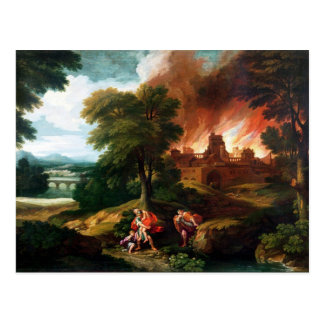 The Burning of Troy Postcard