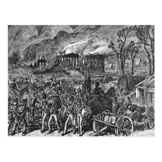 The Burning of Washington, 1814 Postcard