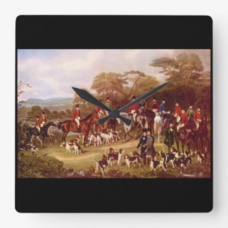 The Bury Hunt', J. Maiden_Engravings Square Wall Clock