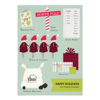 The Business of Christmas Corporate Holiday Card Personalized Invites