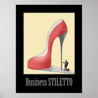The Business Stiletto Cartoon Art Poster