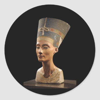 The Bust of Queen Nefertiti Classic Round Sticker