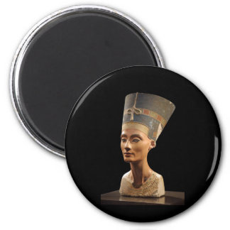 The Bust of Queen Nefertiti 2 Inch Round Magnet