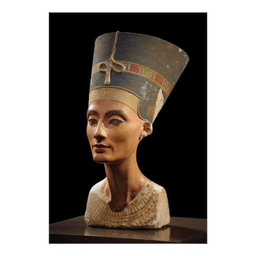 The Bust of Queen Nefertiti Poster