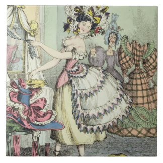 The Bustle, published by Thomas McLean, London (co Ceramic Tile