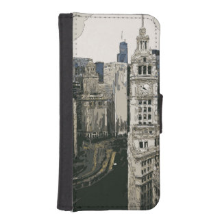 The Bustling Streets of New York City iPhone SE/5/5s Wallet Case